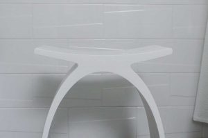 white-bath-stool
